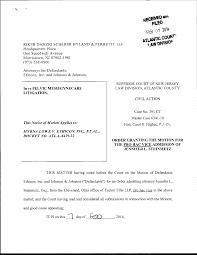 Order Admitting To Practice <em>Pro Hac Vice</em> - Jennifer Steinmetz -  L-6429-12