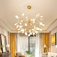 sputnik firefly chandelier led pendant lighting ceiling light fixture hanging lamp by luolax firefly 45 heads