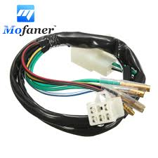 online get cheap motorcycle wiring harness aliexpress com Wiring Harness Motorcycle 1 set motorcycle electric wiring harness loom for 50cc 90cc 110cc 125cc 140cc pit dirt bike wiring harness motorcycle pull behind trailer