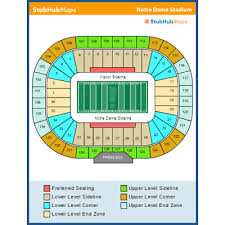Notre Dame Football Seating Chart Rows 2 Tickets Notre Dame Fighting Irish Vs Florida State