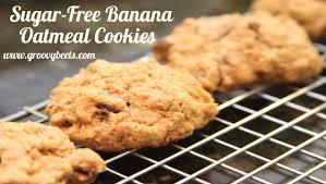 sugar free banana oatmeal cookies no bake