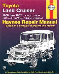 Toyota Landcruiser petrol FJ series repair manual 1968-1982 NEW ...