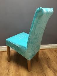 duck egg blue velvet chair cover