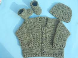 Crochet Baby Sweater Pattern Extraordinary Easy Crochet Baby Cardigan AllFreeCrochet