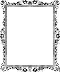 Border Black And White Decorative Clip Art Victorian Border Black And White
