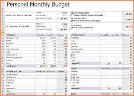 15+Simple Budget Spreadsheets | Lettering Site