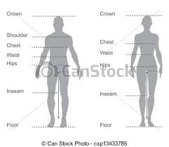 full body measurement chart size chart measurement diagram of male and female body measurements