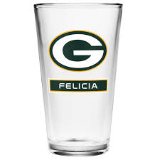packers personalized full color pint gl