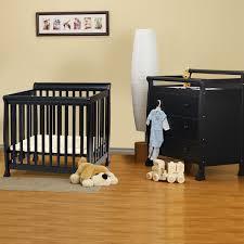 da vinci 2 piece nursery set kalani mini crib and 3 drawer changing table in ebony free