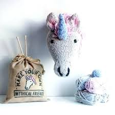 unicorn wall mount knit a head target