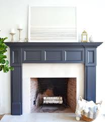the fireplace paint color is midnight oil art winter print from minted fireplaces colors tile colours black fireplace paint color idea
