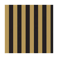 'Gold' Black Stripe Wallpaper