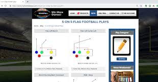Free Football Play Designer 9 On 9 Flag Football Plays Playbooks Play Designer