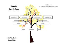 Family Tree Template With Siblings Free Editable Word