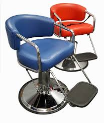 picture of k63 red brianna kids hair styling chair with thick cushions extended height base