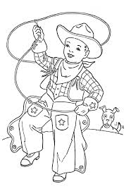 Cowboy And Cowgirl Coloring Sheets Cowboy And Cowgirl Coloring