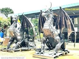 garden statues for horse dragon mirror twins s metal tall statue uk