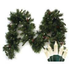 Battery Operated Lighted Garland Brite Star 9 Ft Pre Lit Led Battery Operated Anchorage Fir Garland With Timer