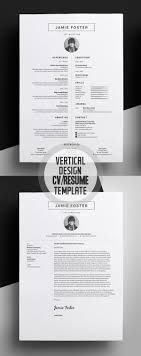 17 best ideas about cover letter design resume beautiful vertical design cv resume template