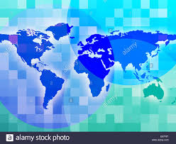 World Map Showing Globalization Worldwide And Backgrounds