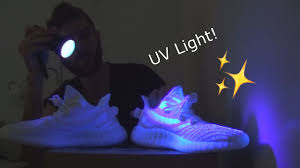 Cream White Yeezy Black Light Adidas Yeezy Boost 360 V2 Cream White Under Uv Light