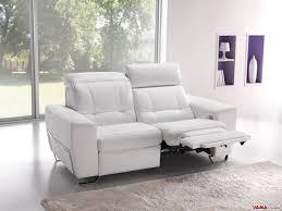 leather electric recliner sofa. Modren Sofa 2 Seater Reclining Sofa In White Leather On Leather Electric Recliner Sofa I