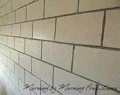painting block wallcheap basement cinder block wall ideas  Title Painting