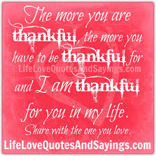 Thankfulness Quotes Custom Quotes About Thankful Love 48 Quotes