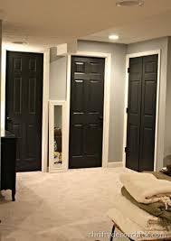 black doors white walls black interior doors grey walls white trim for the home