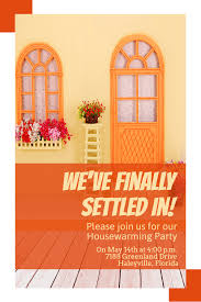 orange text poster font advertising invitation house party
