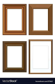 wooden picture frames bulk set of wooden frames royalty free vector image wooden picture frames