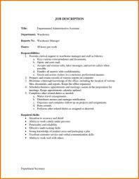 Cover Letter Sample Resume For Warehouse Manager Job Description