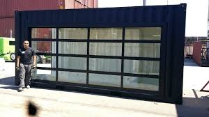 Clear Glass Garage Door Clear Garage Doors Commercial Glass Door