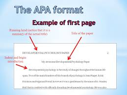 Apa Style Introduction Example The Apa Format Title Page Ppt Video Online Download
