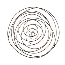 grand gold spiral abstract metal wall