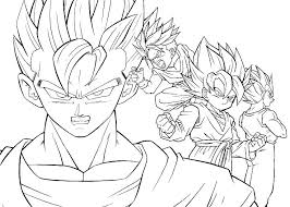 printable dragon ball z coloring pages to print free sheets