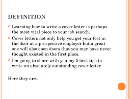 Definition For Cover Letter Job Cover Letter Example