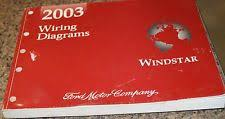 ford windstar manual 2003 ford windstar factory wiring diagrams service manual book