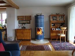 Stilofen Mit Blauen Gebrannten Kacheln Ofen Kamin