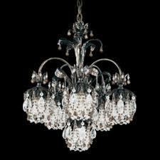 schonbek lighting 1266 26cl rondelle 6 light crystal chandelier french gold