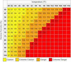 Image Result For Heat Index Chart What Is Heat Heat Index