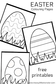 Easter Egg Colouring Pages Preschool Coloring Easter Eggs