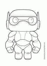 Big Hero Six Baymax Coloring Page For Kids Printable Free Big Hero