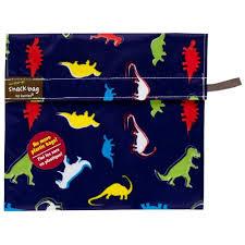 Kushies Baby Kushies On The Go Snack Bag Dino Print Large