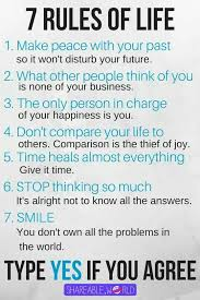 40 Rules Of Life Great Principles To Live By Quotes And Sayings Adorable 7 Rules Of Life Quote