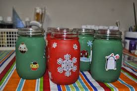 Decorated Jam Jars For Christmas Decorating Your Home For Christmas Painted Christmas Mason Jar 67