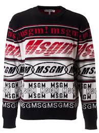 Sweater Logo Design Best Price On The Market At Italist Msgm Msgm Assorted Logo Design Sweater