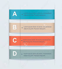 Tab Website Design Business Step Tab Alphabetic Banners Modern Design Of Infographics