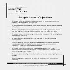 New Job Objective Resume Examples Unique Judgealito Com