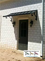 metal front doorThe Concave Gallery  METAL AWNINGS  Projects  Gallery of Awnings